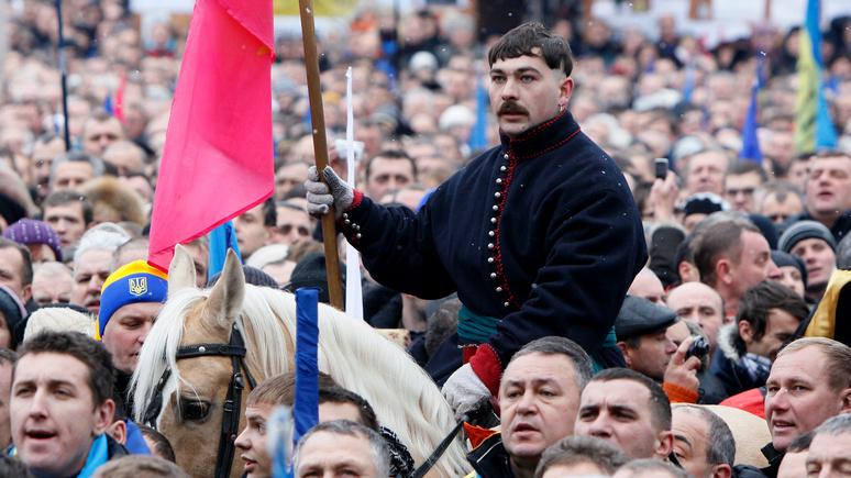 BI: насилие и хаос в США команда Трампа проиллюстрировала снимком с украинского «майдана»