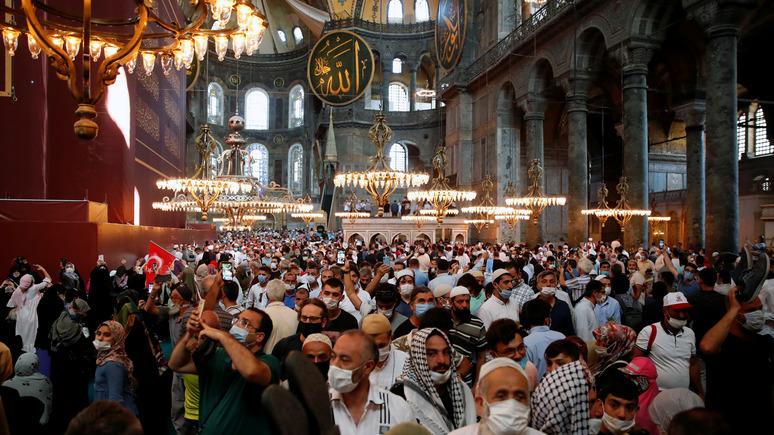 Cumhuriyet: ситуация в Айя-Софии возмущает турецких историков