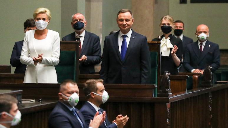 Onet: свой второй президентский срок Дуда начал с обещания вернуть Украине полный суверенитет