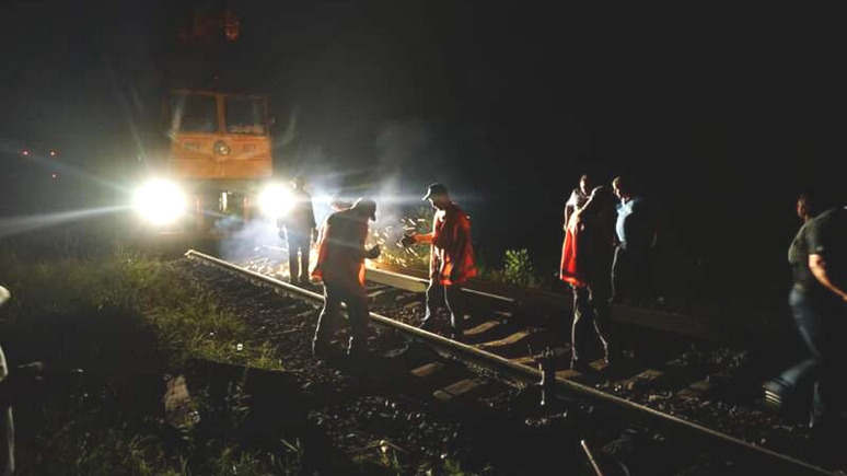 Вести: на Украине пытались взорвать поезд с топливом из Белоруссии