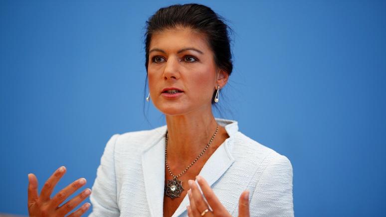 Welt: Вагенкнехт предостерегла от двойных стандартов в спорах о «Северном потоке — 2»