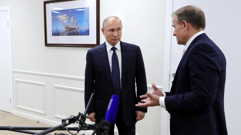 NewsOne: Путин и Медведчук обсудили возможность восстановления украинско-российских отношений и отмены санкций