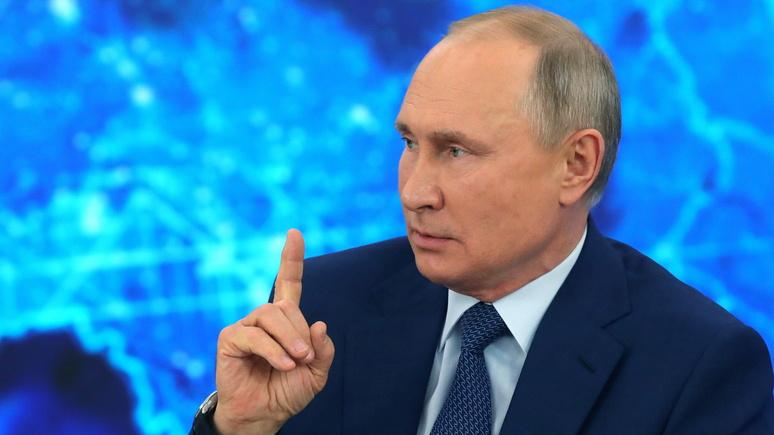 Sky: Путин назвал разработку гиперзвукового оружия реакцией на новую гонку вооружений