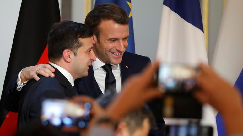 24 канал: Зеленский поблагодарил Макрона за «жест настоящей дружбы»