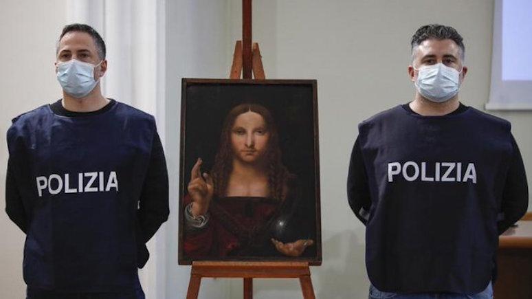CNN: полиция Италии нашла 500-летнюю копию картины Леонардо да Винчи «Спаситель мира»
