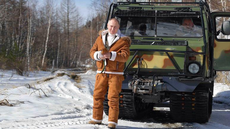 Sky News: Путин предстал в «гипермужественном» образе во время поездки в Сибирь