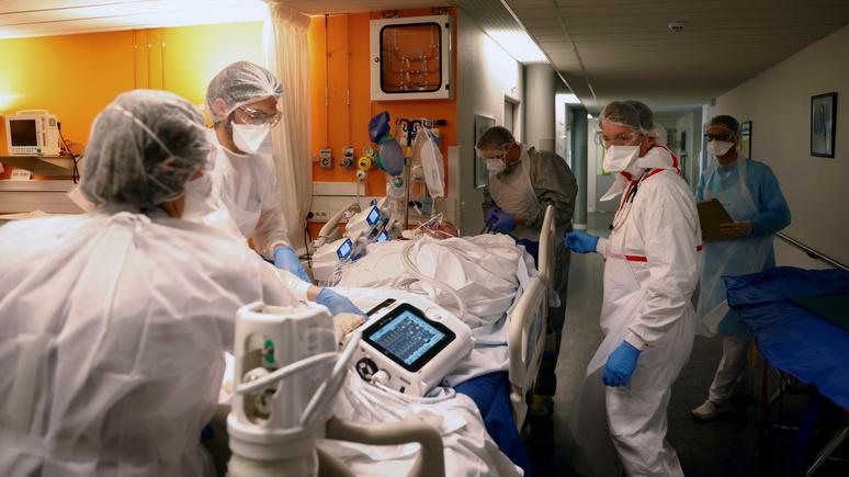 Le Monde: в реанимациях Франции всё больше молодёжи — врачи винят британский вариант коронавируса