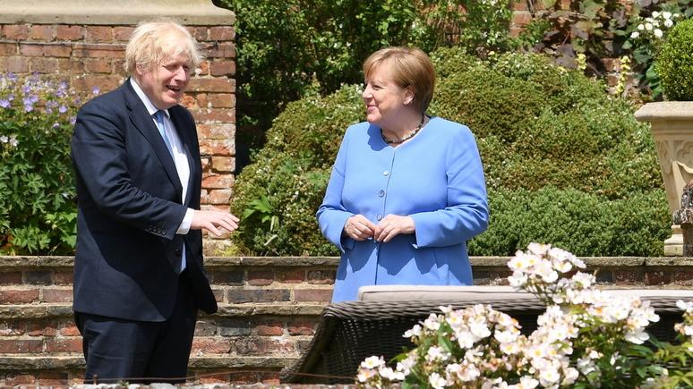 FAZ: визит Меркель к Джонсону развеял надежды британцев на отпуск в Европе