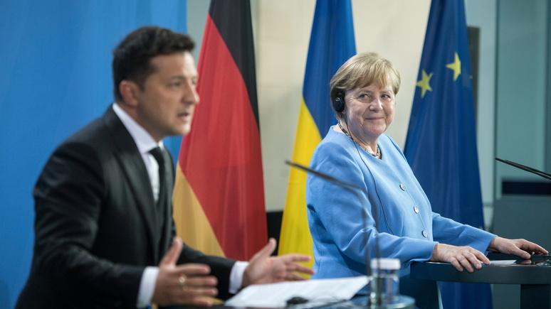 Das Erste: Меркель пообещала Зеленскому сохранить транзит газа через Украину, но не оправдала его надежд