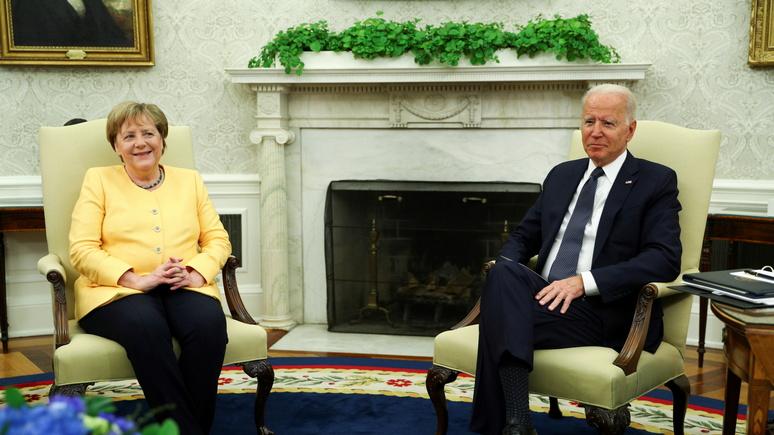 WP: на «прощальной встрече» в Белом доме Байден и Меркель поcтарались смягчить разногласия