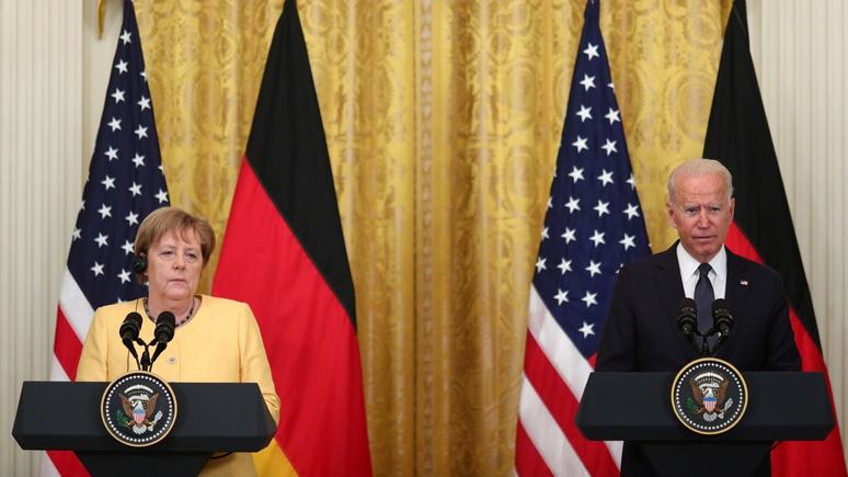 Le Figaro: пришлось смириться — Байден уступил Меркель по «Северному потоку — 2» ради других проектов