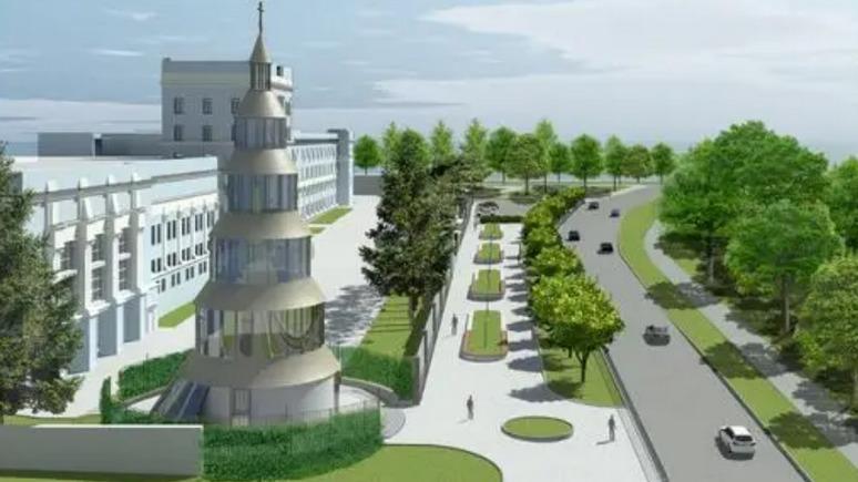 СТРАНА: Нацгвардия построит «главный военный храм Украины» с блокпостом и гильзами