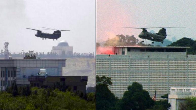 Independent: «поразительно похожие кадры» — в сети сравнили эвакуацию американцев из Кабула с Сайгоном