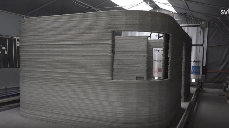 SVT: дешёвое жильё для всех — в Швеции с помощью 3D-принтера напечатали первый дом