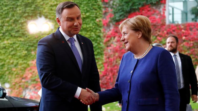 Личная обида и  «Северный поток —2» — Gazeta Wyborcza об отказе Дуды от встречи с Меркель во время её визита в Польшу