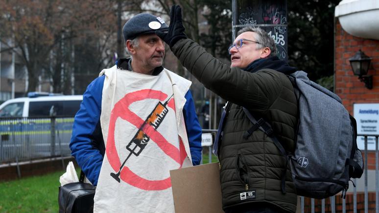 Das Erste: «третья мировая» и «госпереворот» — антипрививочники и ковид-диссиденты в Германии становятся всё радикальнее
