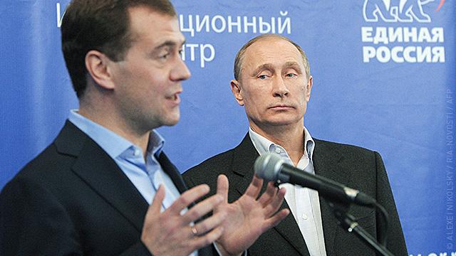 Между Путиным и Медведевым наступило «зимнее время»