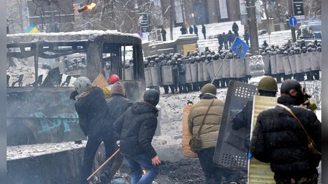 ВВС: Над протестующим Киевом повис черный дым