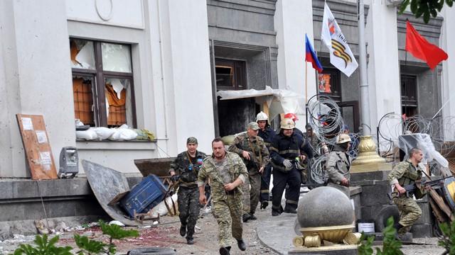 Во взрыве в облсовете Луганска «Украинская правда» винит ополченцев