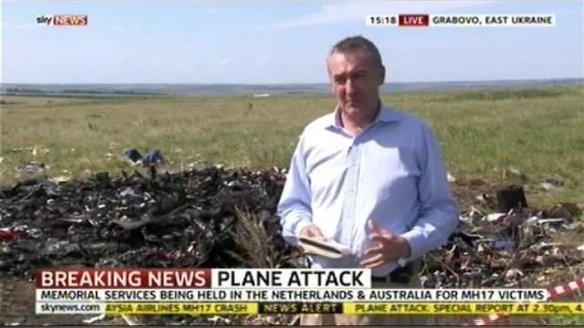 Sky News извинился за репортера, копавшегося в вещах жертв «Боинга»
