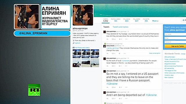 Украинские власти задержали и депортировали журналистку RT