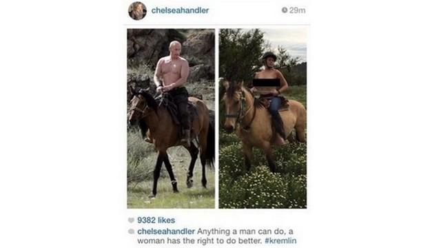 Американская актриса разделась, чтобы «обскакать» Путина