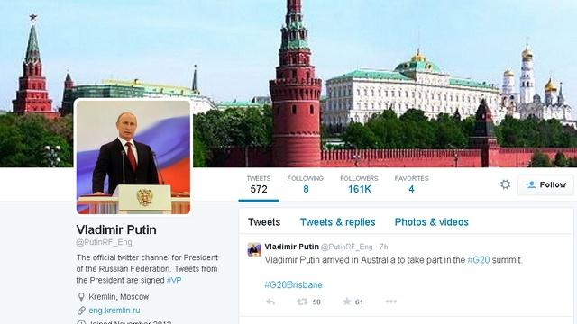 Шведская газета подсчитала, на кого подписан Владимир Путин в «Твиттере»