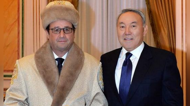 Telegraph: «Казах» Олланд напомнил интернет-пользователям Бората