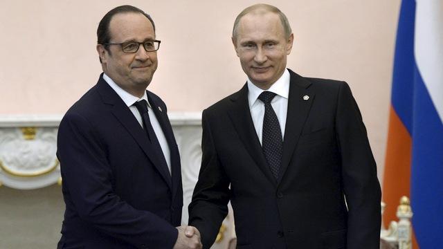 Путин призвал Олланда восстановить торговые связи с Россией