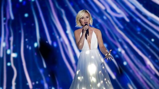 Полина Гагарина и участники из еще 9 стран празднуют выход в финал Евровидения-2015