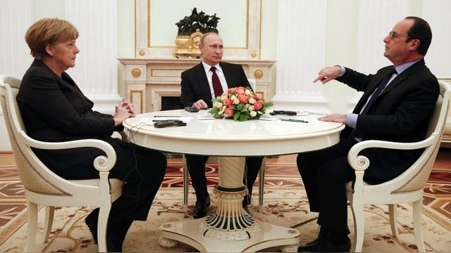 Welt: Меркель и Олланд упрекнули Путина за «недостаточный» прогресс на Украине