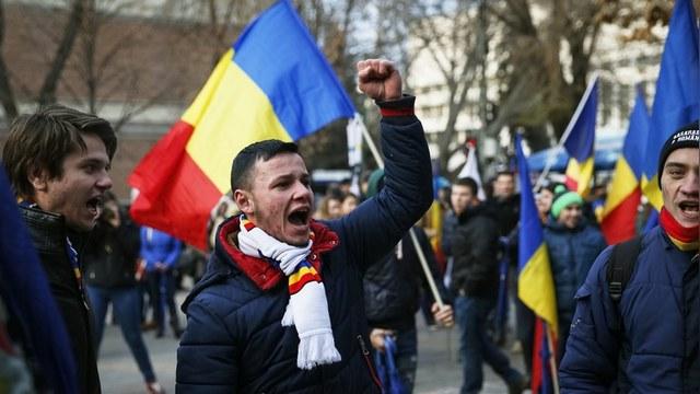 Форум в Кишиневе проголосовал за объединение с Румынией