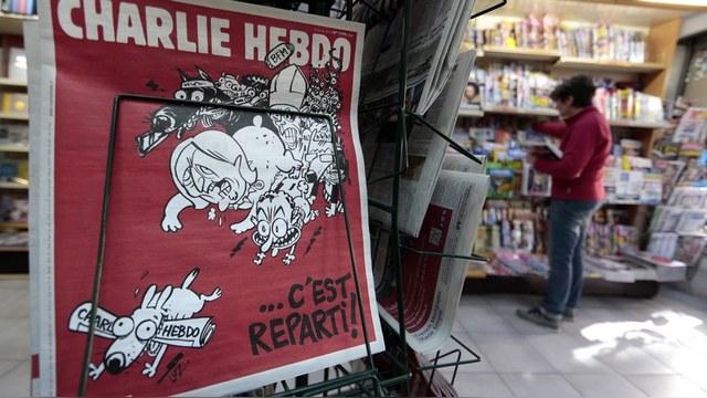 Charlie Hebdo нашел повод для шуток в крушении российского самолета