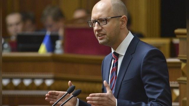 Яценюк: Украина не будет платить долг России на условиях Путина