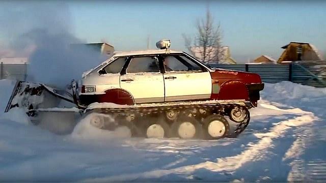 TF1: Изобретательный россиянин собрал танк из Lada Samara