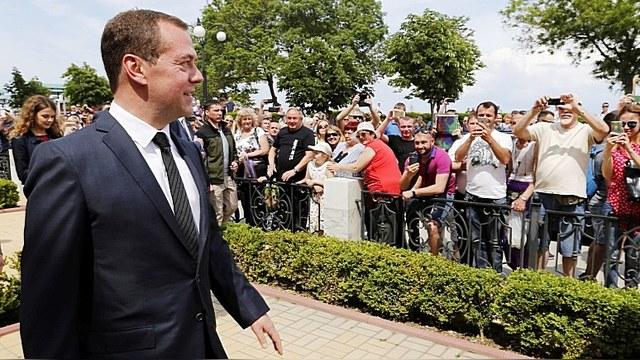 Киев возмущен «несогласованным» визитом Медведева в Крым