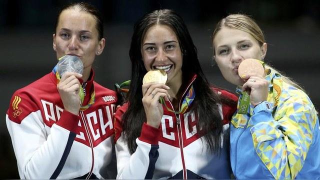 NBC: Российские саблистки взяли золото и серебро в Рио