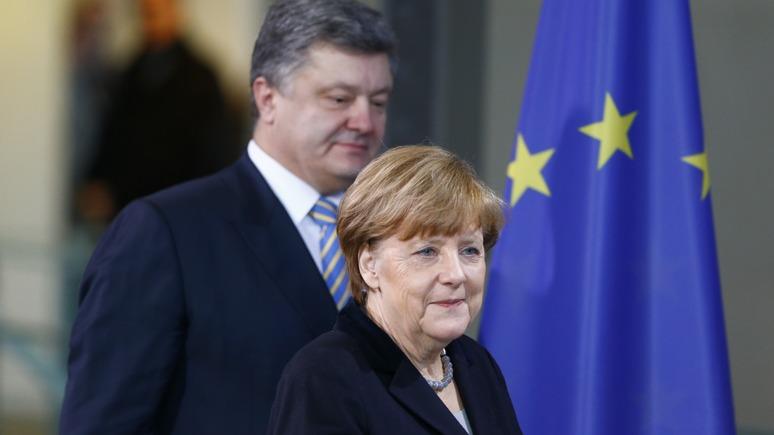 CM: Вместо серьезного разговора с Порошенко Меркель ограничилась банальностями