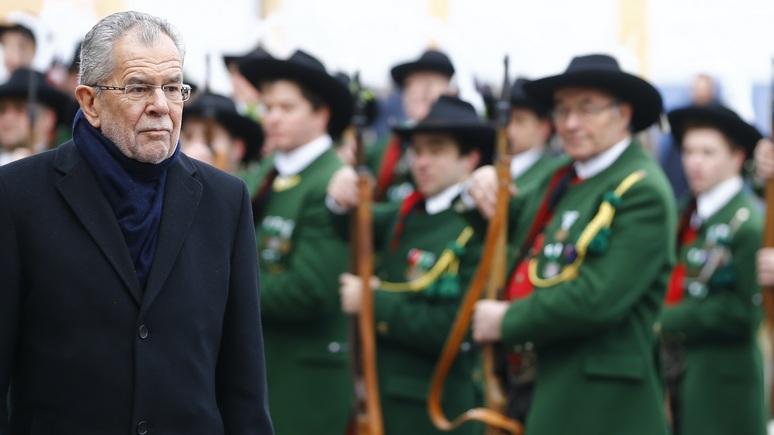 Tiroler Tageszeitung: русские корни не сделали президента Австрии своим для Кремля