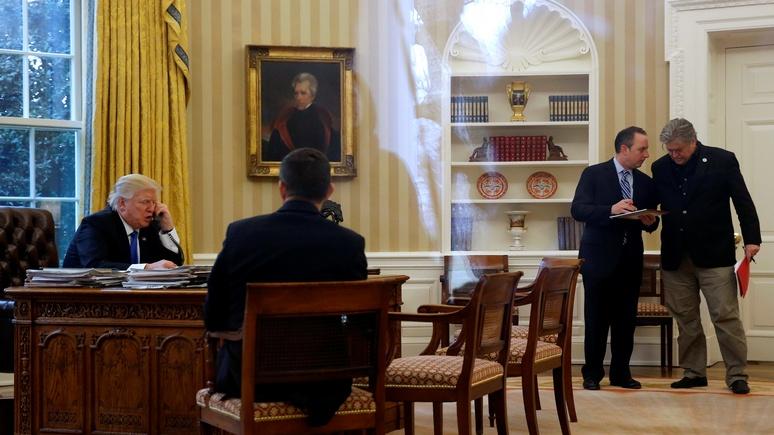 Bild: снимки с переговоров Трампа показали, что Путин для него важнее Меркель