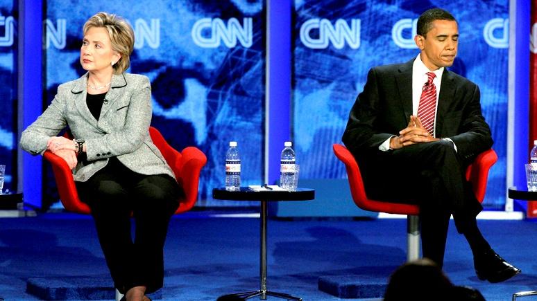 Axios: в фиаско на выборах команда Клинтон винит Обаму, а не Путина