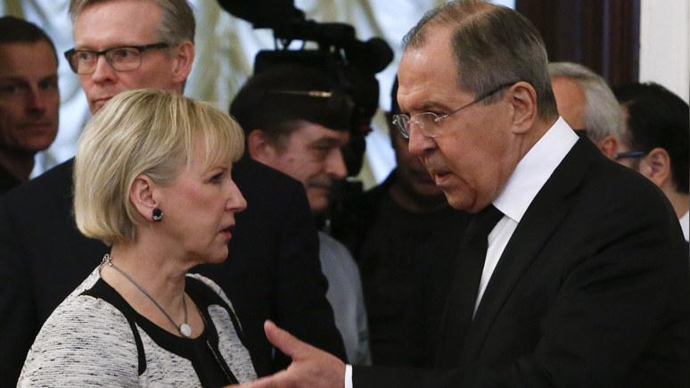 Dagens Nyheter: шведский министр не поддалась на российскую «провокацию»