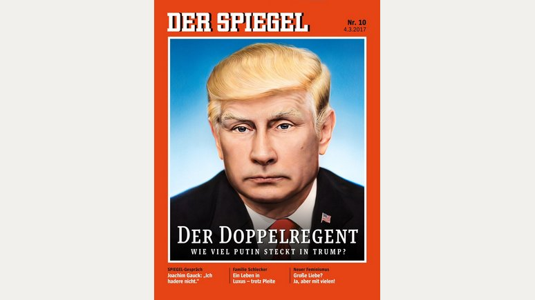 «Кошмар стал явью»: на обложке Spiegel появился Путин с шевелюрой Трампа
