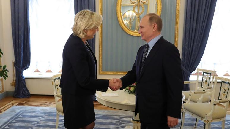 Guardian: неожиданный визит Ле Пен в Кремль  озадачит  многих в Европе