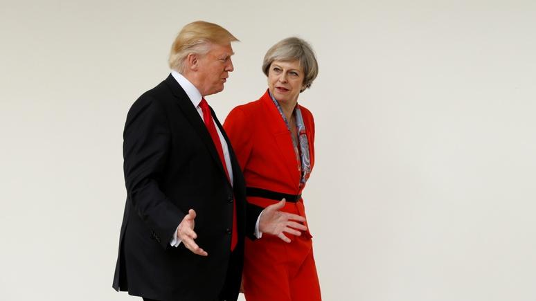 Telegraph: Трамп и Мэй заявили о возможности убедить Россию порвать с Асадом