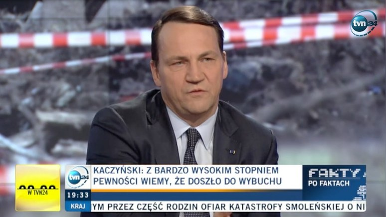TVN24: Сикорский назвал теорию о теракте на самолёте Качиньского бреднями