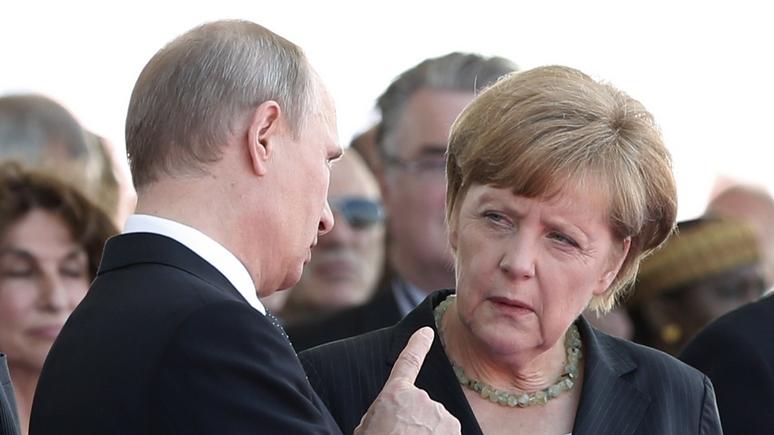 HuffPost: встреча Путина с Меркель столкнёт лбами прагматизм и ценности