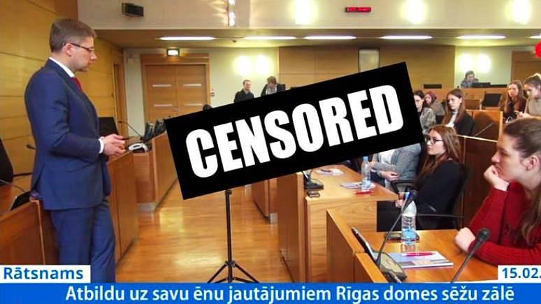 DELFI: мэра Риги вновь оштрафовали за общение на русском со школьниками