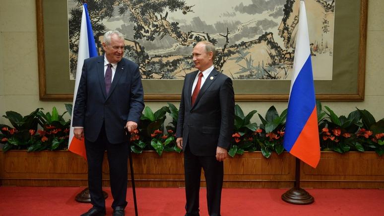 WZ: президент Чехии в шутку предложил Путину «ликвидировать» журналистов