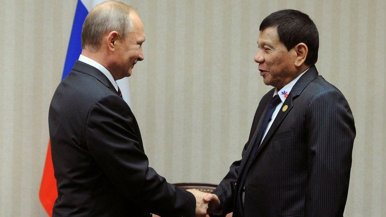 PhilStar: визит Дутерте укрепит «сердечные, но скромные» связи с Москвой
